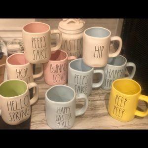 Rae Dunn Easter Spring Mugs